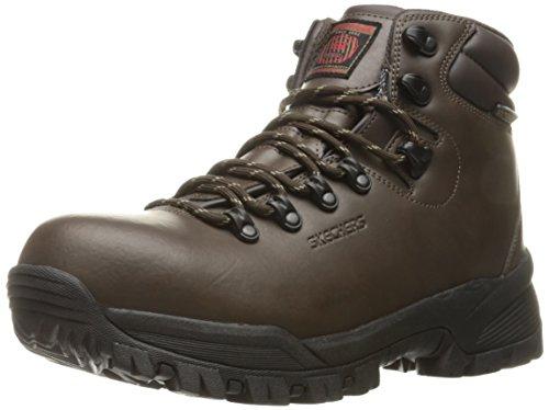Skechers for Work Men's Vostok Culp Industrial and Construction Shoe, Dark Brown