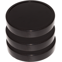 Blendin Black Jar Lid, Compatible with Original Magic Bullet Blender Juicer 250W MB1001 (3 Pack)