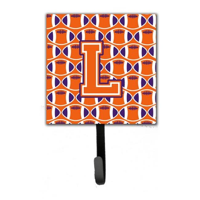 Carolines Treasures CJ1072-LSH4 Letter L Football Orange, White & Regalia Leash or Key Holder - image 1 de 1