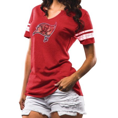 Tampa Bay Buccaneers Womens Majestic Nfl  Break The Tie  Tri Blend T Shirt