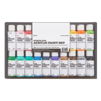Darice Assorted Satin Acrylic Paint Set, 16 Pieces