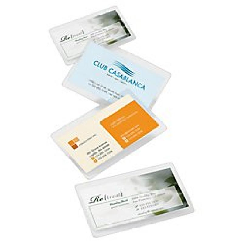 Office Depot(R) Brand Laminating Pouches, Business Card Size, 5 Mil, 2.56in. x 3.75in., Pack Of 100
