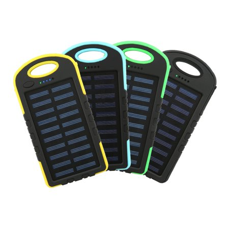 10000mAh Dual USB Mobile Charger Outdoor Solar Charger Phone Charger With LED Flashlight (I5 Phone Charger)
