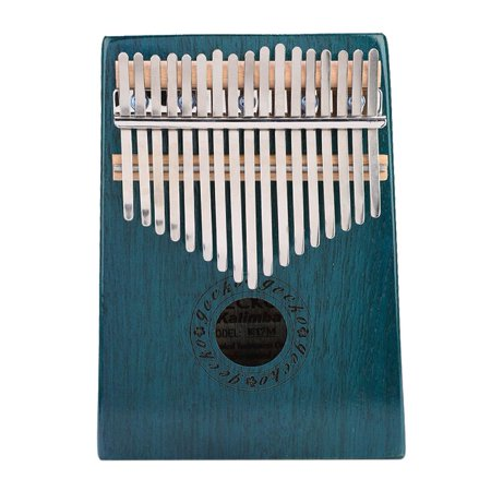HURRISE 17-Key Portable Unique Thumb Piano Wooden Musical Instrument, 17 Key Thumb Piano For Adults Beginners Music Instrument Enthusiast(Blue) (Wooden Instruments Adult)