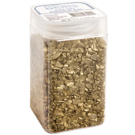 Darice Crushed Glass Vase Filler: Gold Chips, 500 - Vase Fillers For Halloween