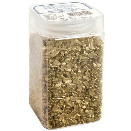 Darice Crushed Glass Vase Filler: Gold Chips, 500 - Gold Vase Filler