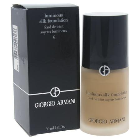 Luminous Silk Foundation - # 6 Medium/Warm by Giorgio Armani for Women - 1 oz