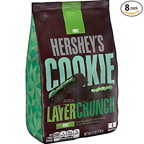 HERSHEY'S Cookie Layer Crunch Bar Mint Chocolate Candy, S...