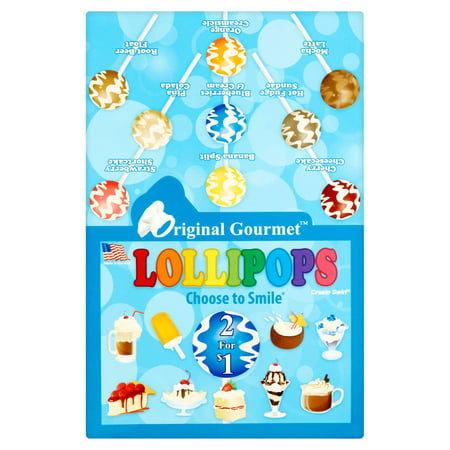 Original Gourmet Cream Swirl Lollipops, 1.1 oz, 48 count