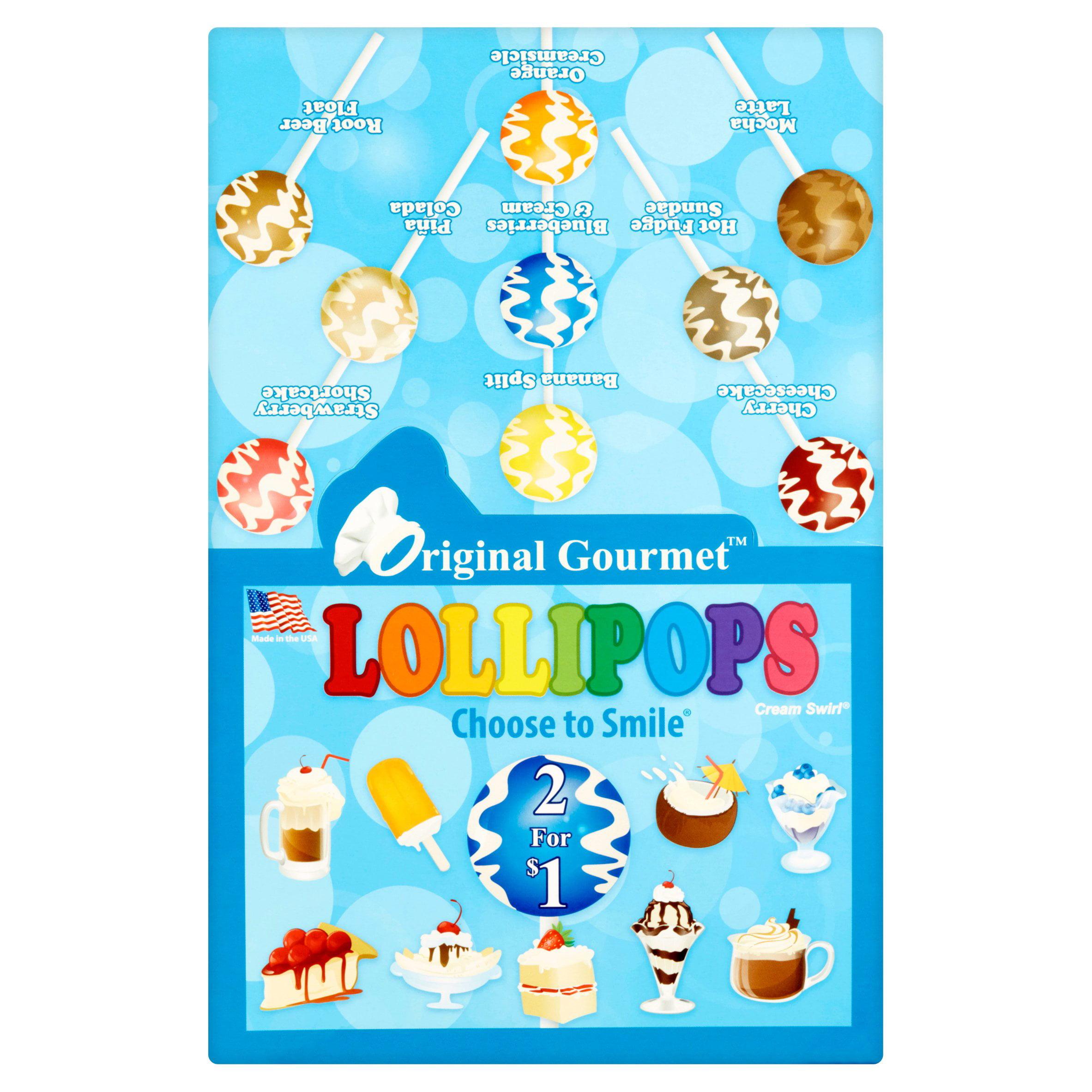 Original Gourmet Cream Swirl Lollipops, 1.1 oz, 48 count