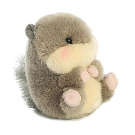 Nanigans Squirrel Rolly Pet 5 inch - Stuffed Animal by Aurora Plush - Novelties And Stuff