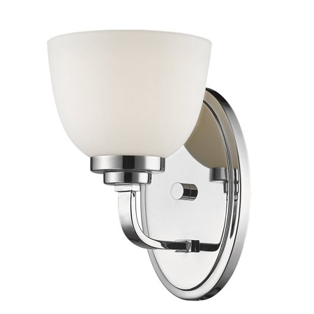 New zlite Product  Ashton Collection 1 Light Wall Sconce in Chrome  Finish Sold by VaasuHomes