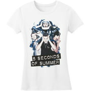 5 Seconds Of Summer  Silly Photo Girls Jr Soft tee White