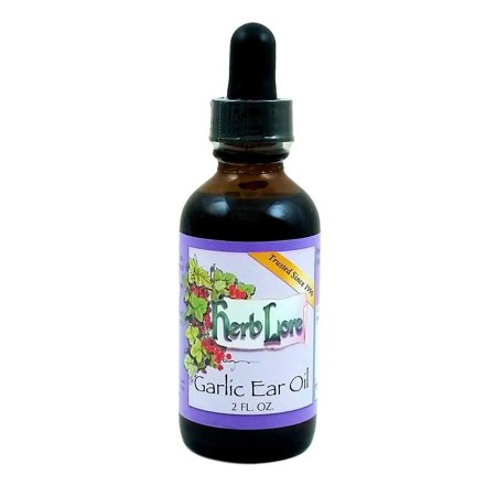 Herb Lore Organic Garlic Ear Oil Drops   2 Fluid Ounces   Natural Remedy For Ear Pain Relief   Ear Infection Prevention