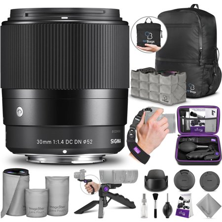 Sigma 30mm F1.4 Contemporary DC DN Lens for SONY E Mount Cameras w/ Advanced Photo and Travel