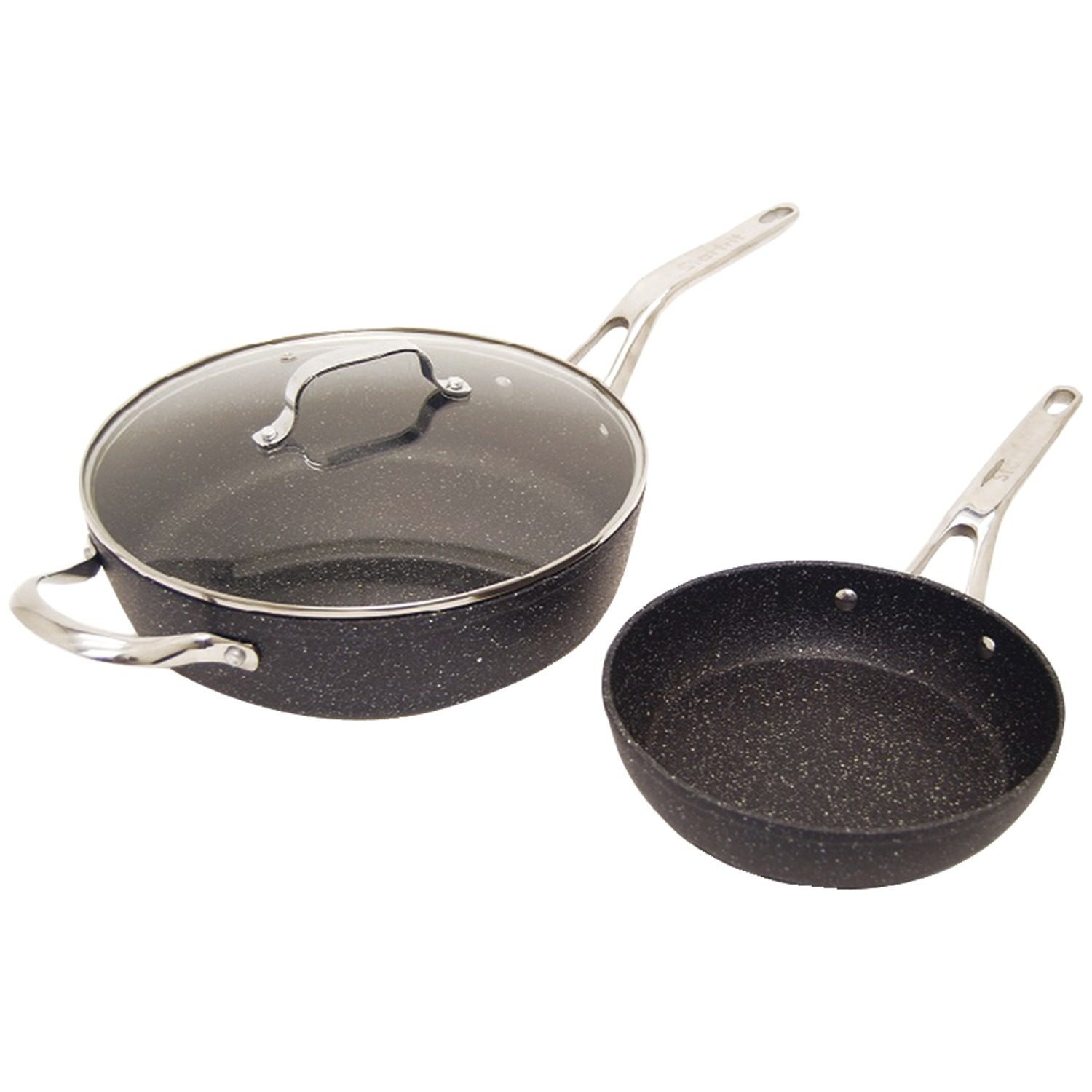 THE ROCK by Starfrit 060337-002-0000 The Rock By Starfrit 3-piece Cookware Set With Riveted Cast Stainless... by THE ROCK by Starfrit