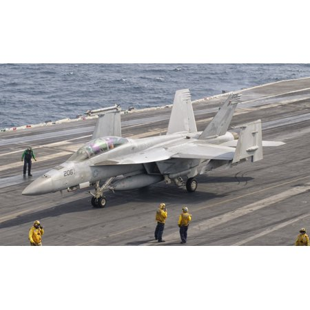 An Fa 18F Super Hornet Aboard Uss George Hw Bush Canvas Art   Giovanni Collastocktrek Images  36 X 22