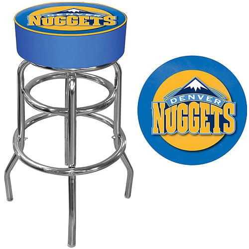 "Trademark Global NBA Denver Nuggets 31"" Padded Swivel Bar Stool"