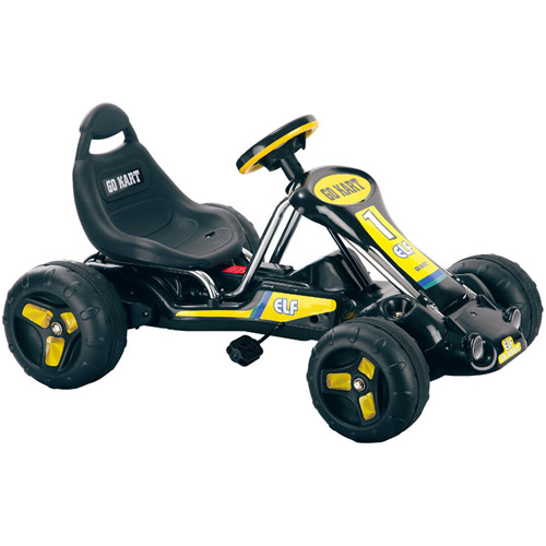 Rockin' Rollers Black Stealth Pedal-Powered Go-Kart Ride-On