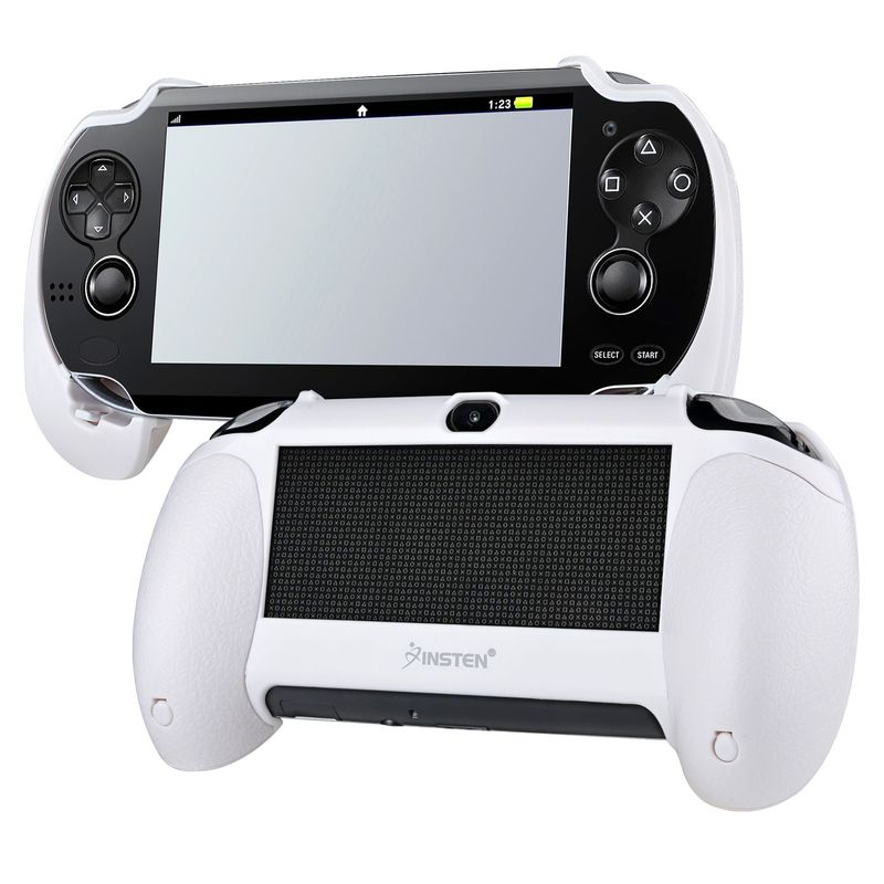 Insten Hand Grip For Sony PlayStation Vita, White
