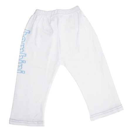 LS-0208 Boys Pants with Print, White & Blue - Small