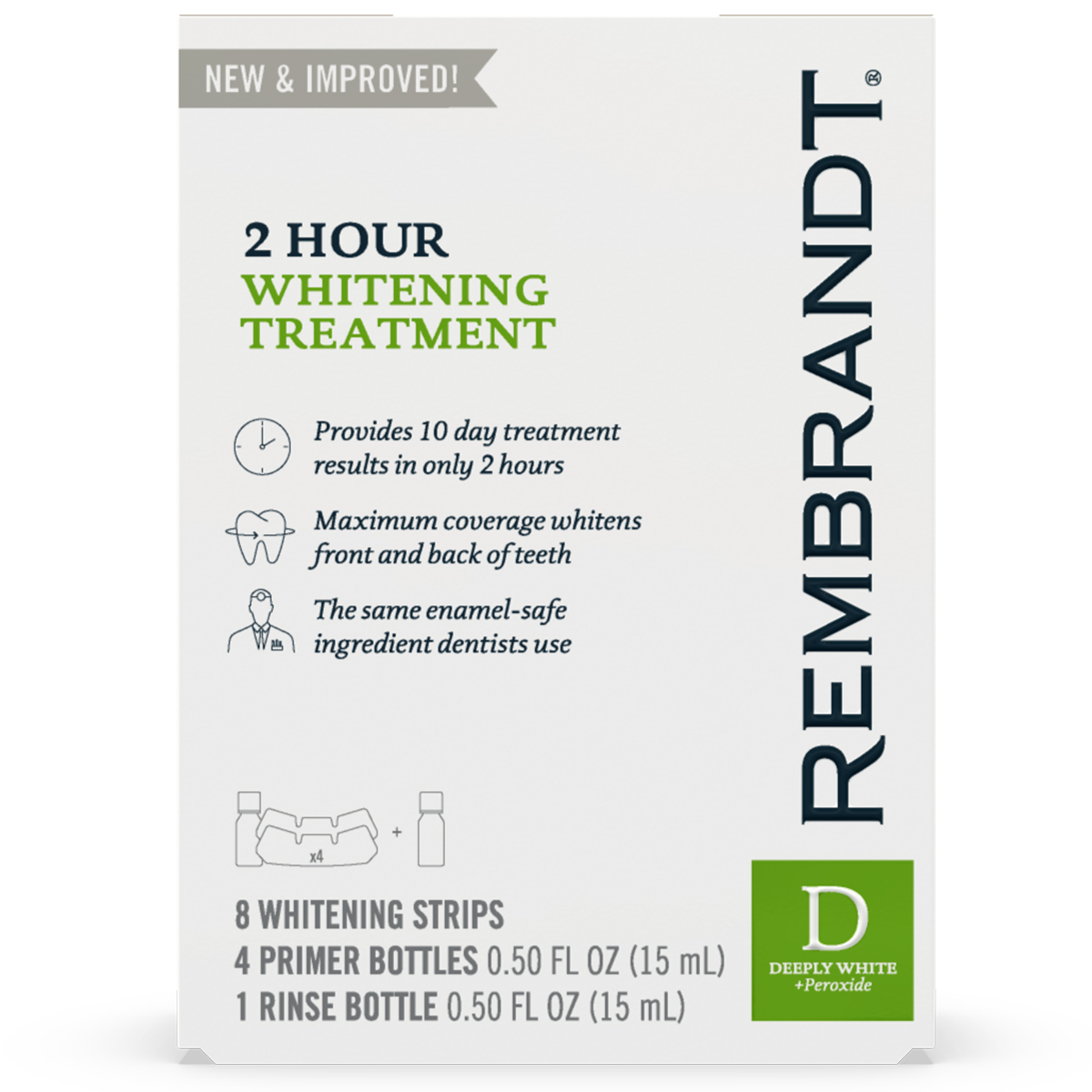 Rembrandt 2 Hour Teeth Whitening Treatment