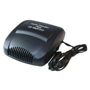 12V Car Defroster Heater Portable Electric Vehicle Heating Fan Windshield Demister Defroster with Cigarette Lighter Plug (Black)