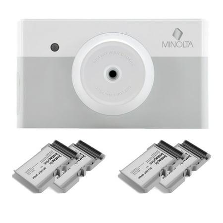 Minolta MNCP10 instapix Instant Print Camera (Gray) with 40-Print