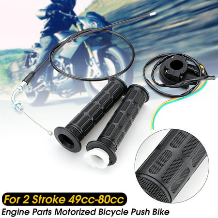 49cc-80cc Motorcycle Motorized Bicycle 7/8'' Throttle Grips Cable Kill Switch