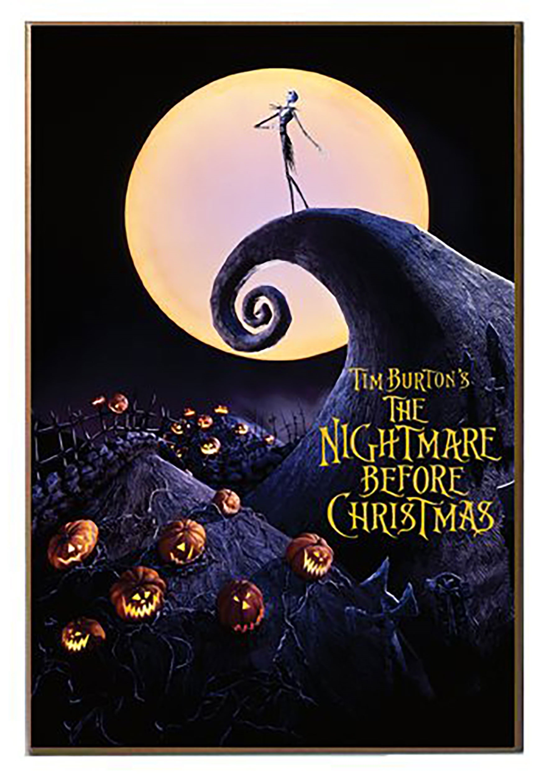 "Nightmare Before Christmas 13"" x 19"" Printed Wood Wall Decor Walmart"