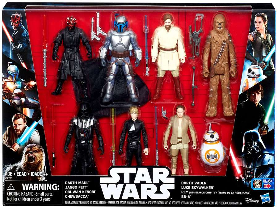 Star Wars Saga Action Figure 8 Pack with Darth Maul by