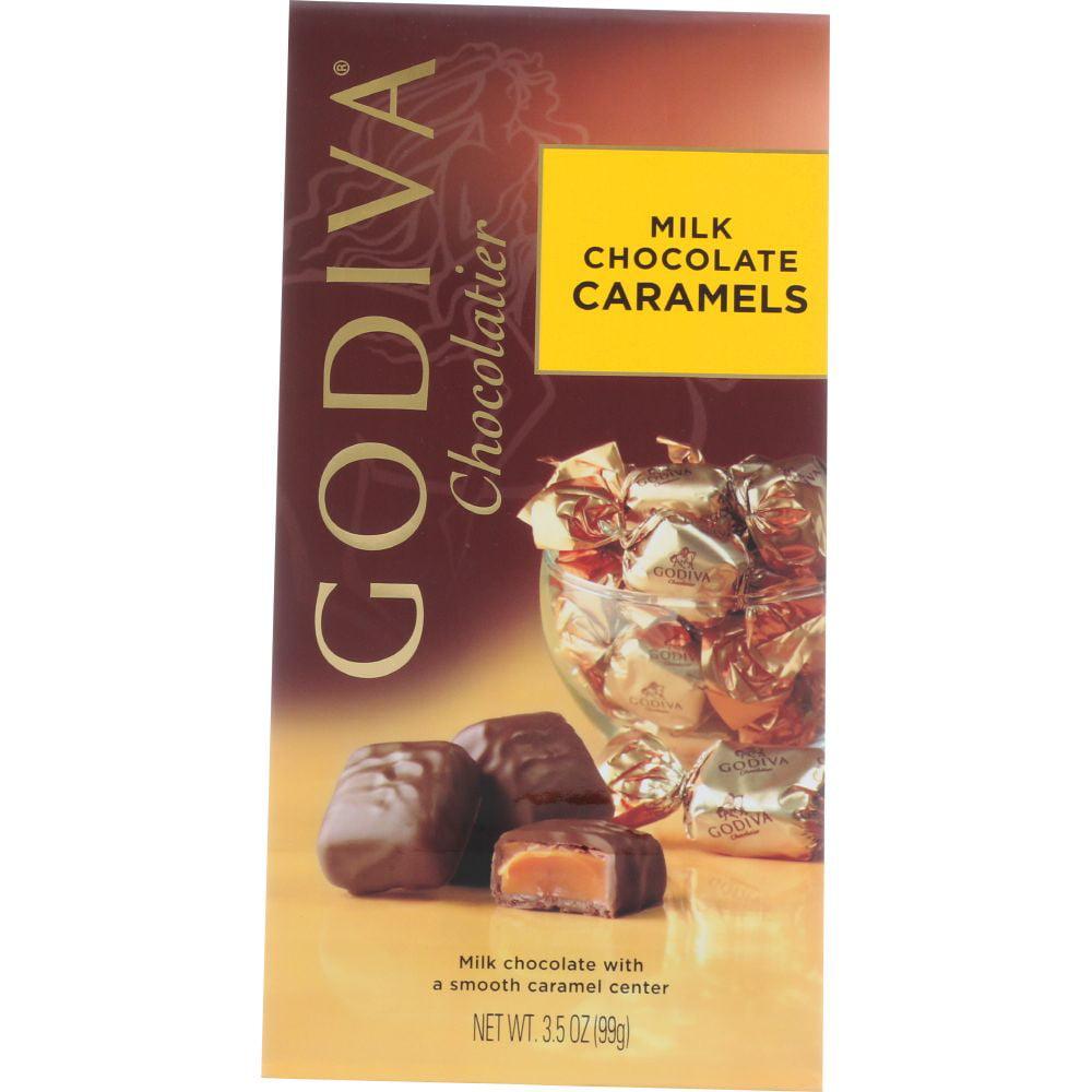 Godiva Gems Milk Chocolate Caramels , 12 Count (Pack Of 6)