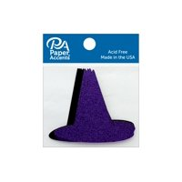 Glitter Shape 8pc Witches Hat Black & Grape