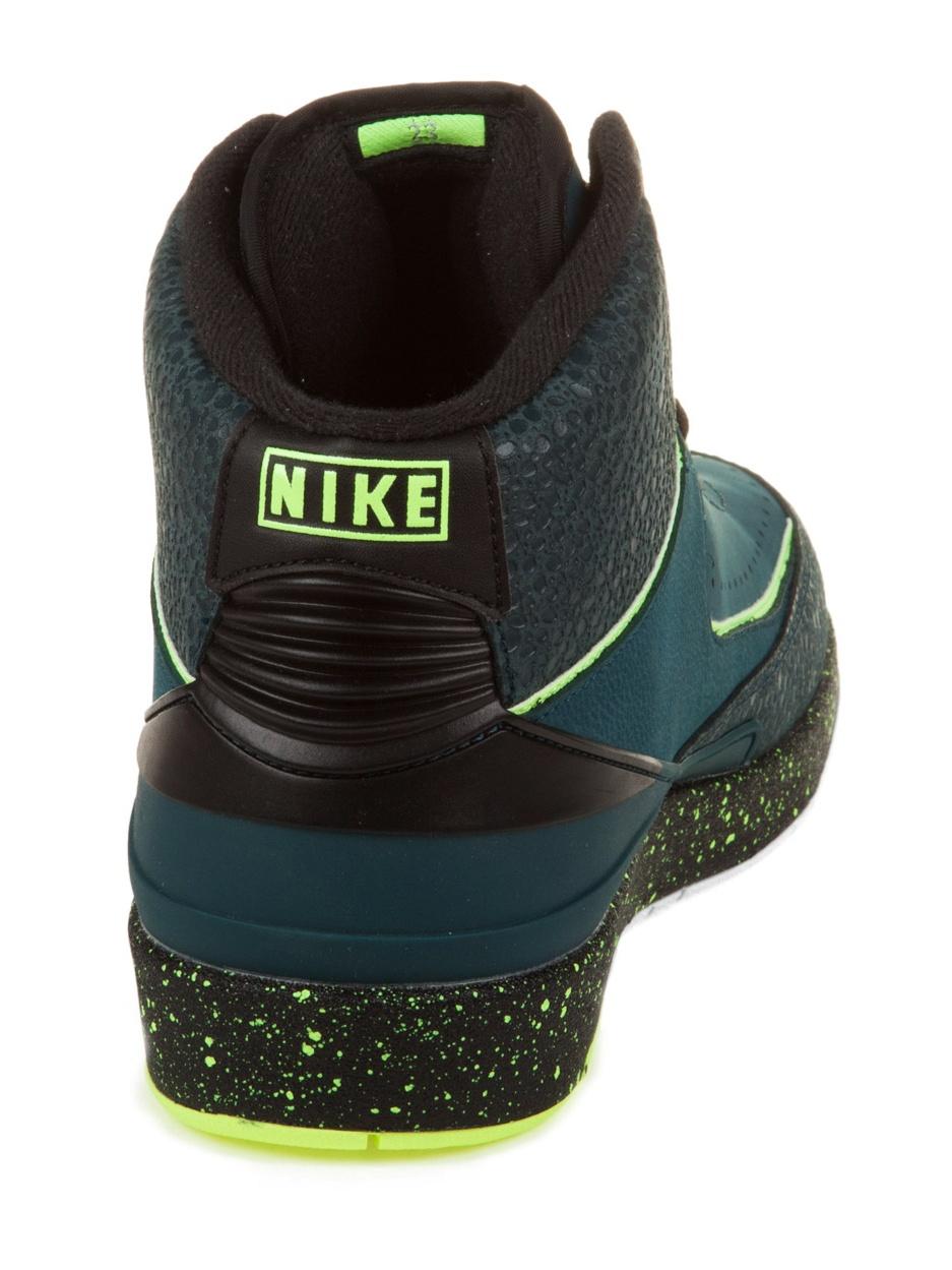 "Nike Mens Air Jordan 2 Retro ""Nightshade"" Black/Pure Platinum 385475-303"