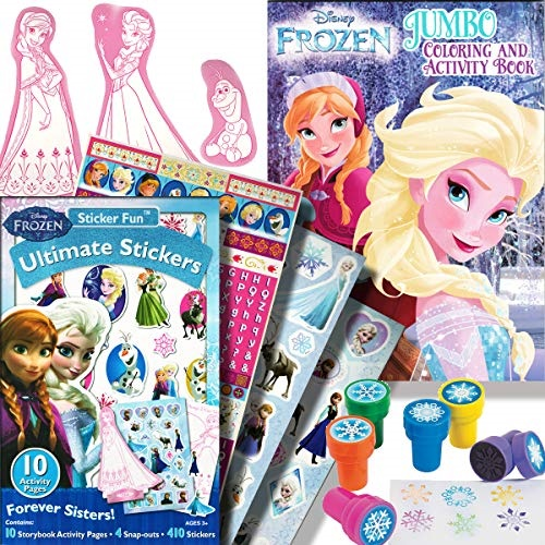 - Disney Frozen Coloring Book And Stickers Activity Set With Stampers -  Walmart.com - Walmart.com