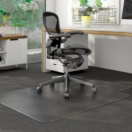 "Zimtown PVC Matte Desk Office Chair Floor Mat Protector for Hard Wood Floors 48"" x 36"""