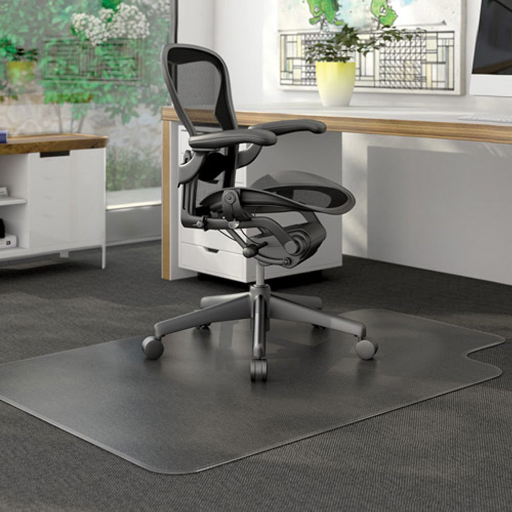 Ktaxon PVC Matte Desk Office Chair Floor Mat Protector for Hard Wood Floors 48  x & Office Chair Mats