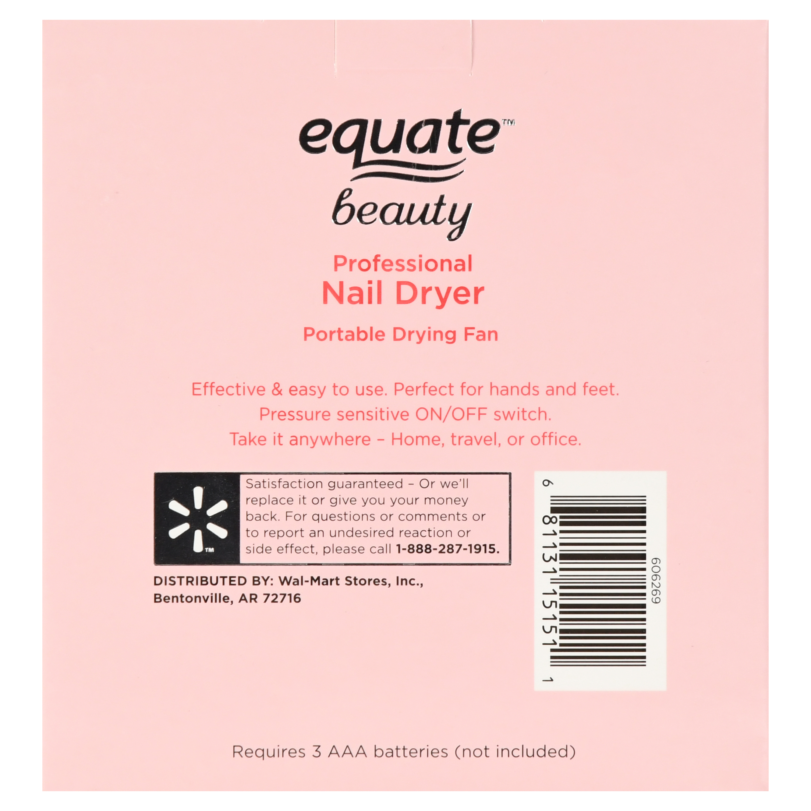 Equate Beauty Professional Nail Dryer Portable Drying Fan - Walmart.com