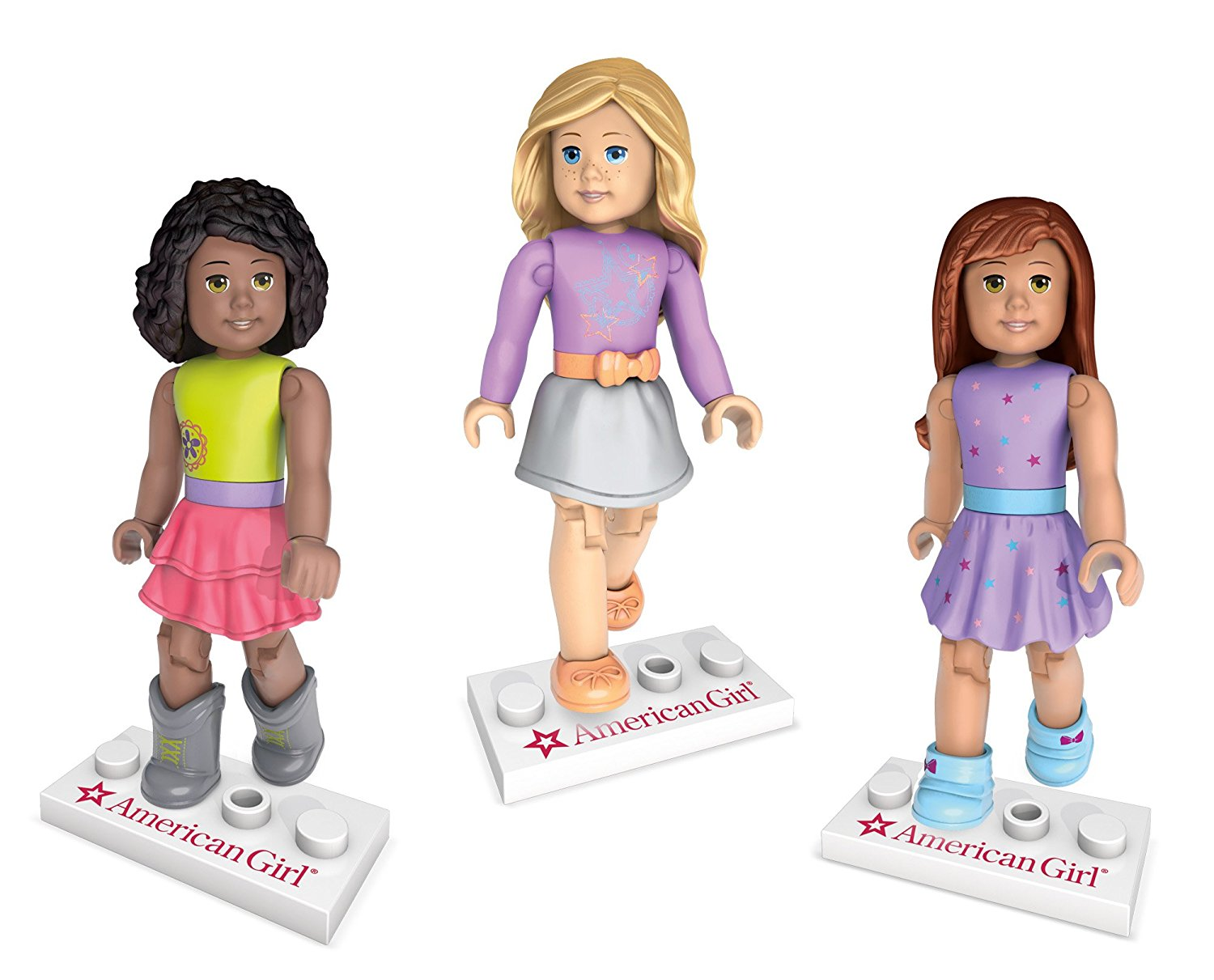 Mega Construx American Girl Figurine Downtown Style Collection, Create a diverse world to... by
