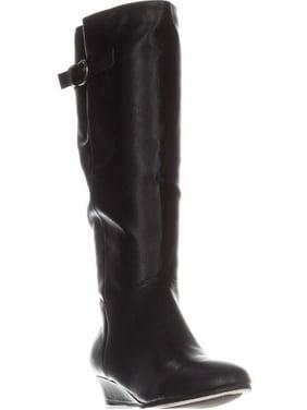 Womens SC35 Rainne Wedge Mid-Calf Boots, Black