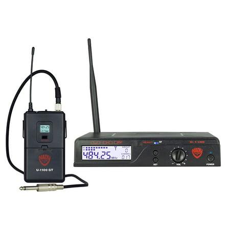 Nady U-1100 GT 100-Channel UHF Wireless Instrument/Guitar (Gt Uhf Guitar Wireless System)