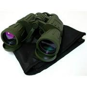 1208 Green Army Binoculars with Bag, 60 x 50