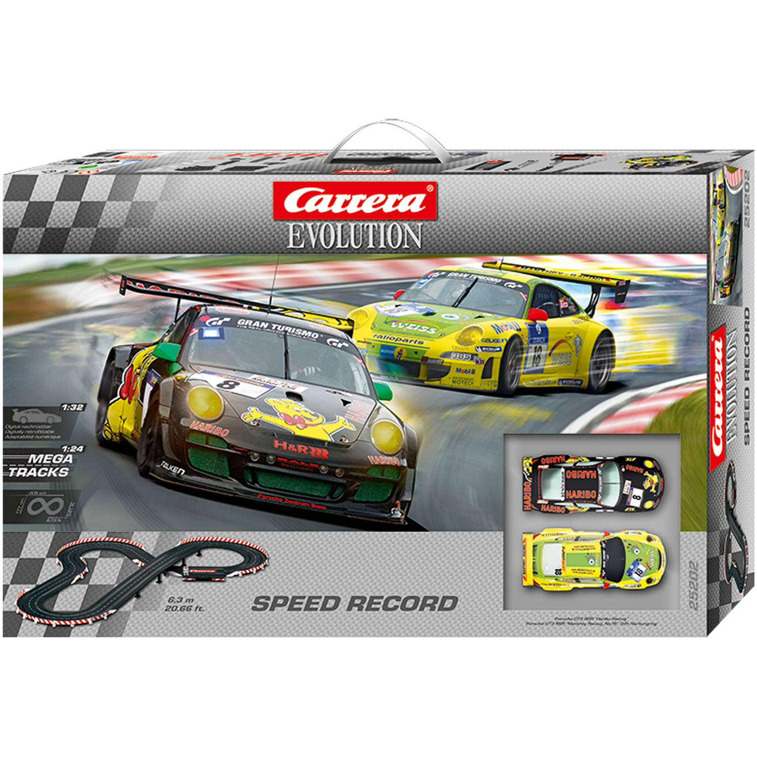 carrera speed record evolution 1 32 scale slot car race. Black Bedroom Furniture Sets. Home Design Ideas