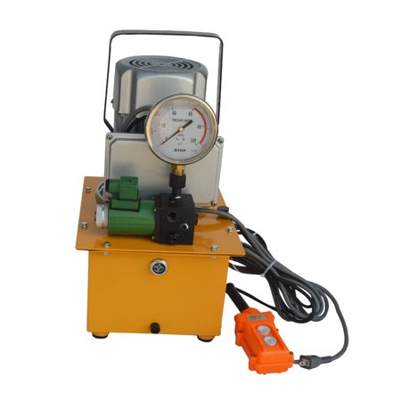 INTBUYING Electric Hydraulic Pump System for Industrial Single Solenoid Valve 110V 10KPSI (D03 Hydraulic Solenoid Valve)