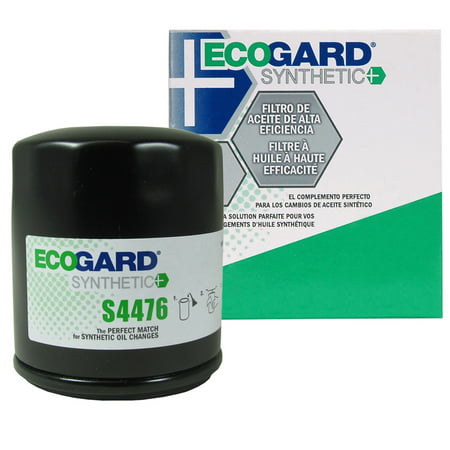 ECOGARD S4476 Spin-On Engine Oil Filter for Synthetic Oil - Premium Replacement Fits Toyota Corolla, Camry, Prius, Yaris, RAV4, Matrix, Prius C, Celica, Echo, Tercel, Solara, MR2 Spyder, Paseo,