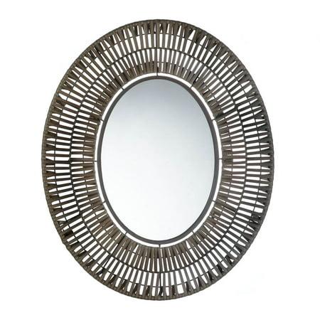 Decorative Wall Mirrors, Elegant Girls Wall Mirror,faux Rattan Oval Wall Mirror