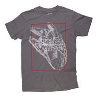 Star Wars VII: The Force Awakens Millennium Falcon Mens Grey T-Shirt | 2XL