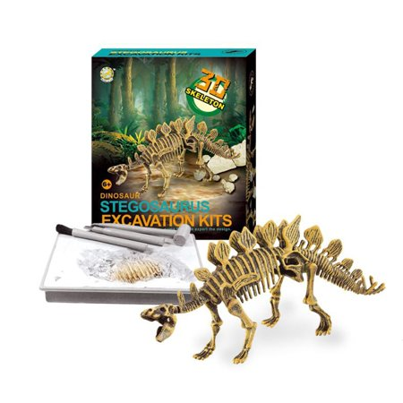 Dinosaur Action Figure Fossil Excavations Dig Kits Unearth 3D Realistic Dinosaur Bones - Stegosaurus (Fossil Dinosaur Bone)