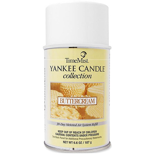 TimeMist Yankee Candle Collection Buttercream 30-Day Metered Air System Refill, 6.6 oz