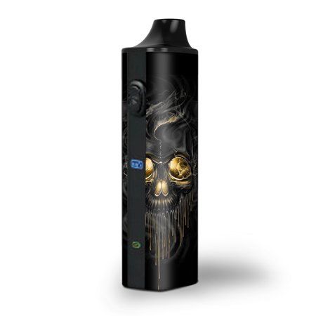 Skins Decals for Pulsar APX Herb Vape / golden Skull, glowing (Vape Dry Herb Best)